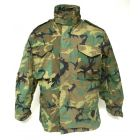 M65 Field Jacket Woodland ERDL Leaf Pattern Camo