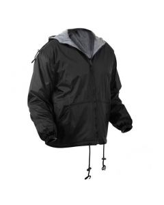Reversible Hooded Rain Jacket with Fleece Lining