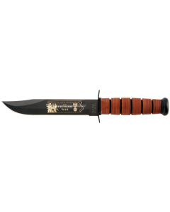 KA-BAR Vietnam War Knife  USMC with Stamped Leather Sheath