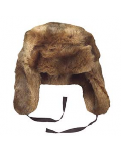 Brown Plush Fur Trooper Hat