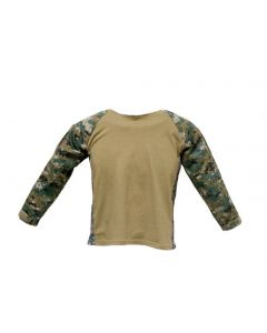 Kids Digital Woodland Combat Battle Shirt