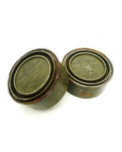 2 Pack of WWII Ration Heating Wood Alcohol Fuel Tablet Cans