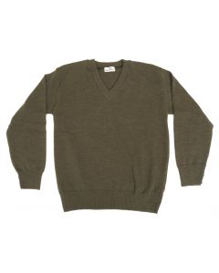 100% Lambs Wool Vintage V Neck Sweater