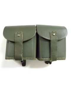 WWII Italian Leather Double Ammo Pouch