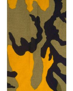 Yellow Bumblebee Pattern Camouflage Material