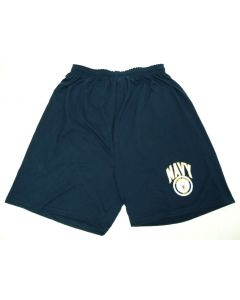 Navy Imprinted Shorts