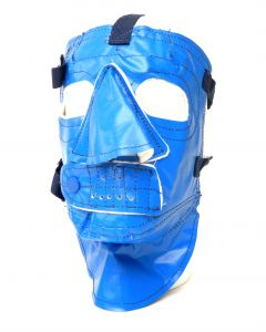 Blue Vinyl Face Mask