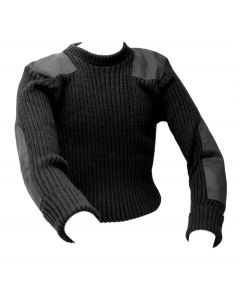 Crew Neck Commando Sweater Black US Made