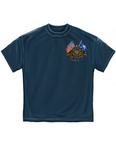 Navy Shield Double Flag Eagle T-Shirt