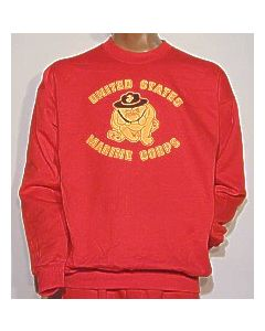 Marine Bulldog Imprinted Sweatshirt