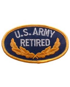PATCH-ARMY,OVAL,RETIRED