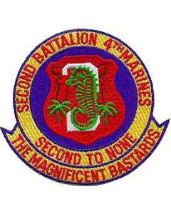 PATCH-USMC,02ND BN 4TH