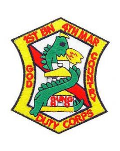 PATCH-USMC,01ST BN 4TH