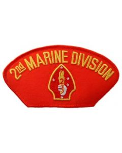 PATCH-USMC,HAT,002ND DIV.
