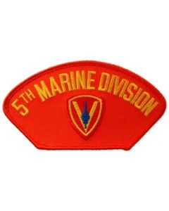 PATCH-USMC,HAT,005TH DIV.