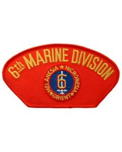 PATCH-USMC,HAT,006TH DIV.