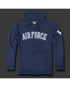 USAF Full Zip Fleece Hoodie