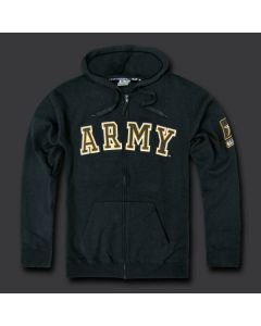 ARMY Full Zip Fleece Hoodie