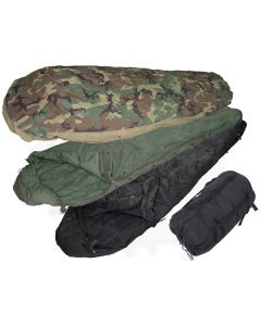 4 Piece GI Modular Sleeping Bag System Woodland New