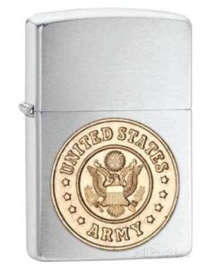 Zippo Lighter Branch of Service Brushed Chrome