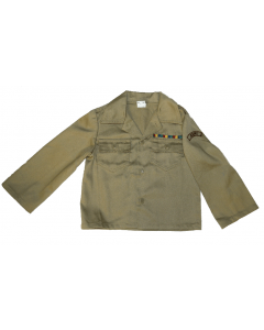 Kids Khaki Army Fatigue Shirt