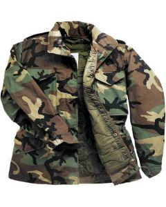 Military Style Woodland M65 Field Jacket