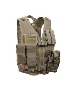 Kids Multicam Cross Draw Tactical Vest