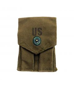 GI .45 cal OD Double Mag Pouch Vietnam Dated