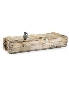 GI 105MM Wooden Ammo Crate With Rope Handles
