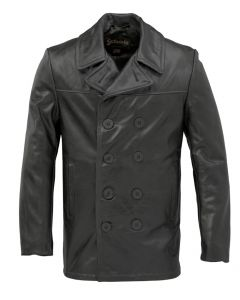 Cowhide Fitted Peacoat