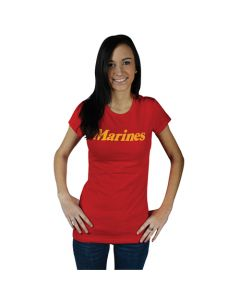 Women's Cotton Tee Marines