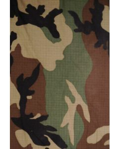 GI Woodland Camouflage Pattern Rip Stop Material