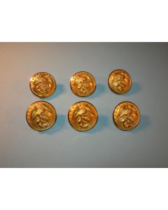 Set of 6 Dress Blues Uniform 1in. Buttons