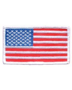 PATCH-FLAG USA,RECT.WHITE