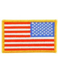 "American Flag - 2"" x 3"" Reverse Field with Hook Closure"
