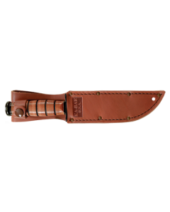 "KA-BAR USA ""Shorty"" Straight with Leather Sheath"