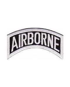 Black and White Army Airborne Rocker Tab Patch