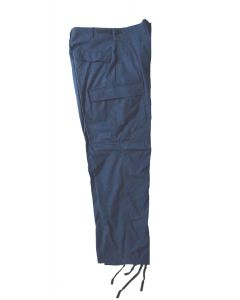 Military Style Blue BDU Pants Slight Irregular