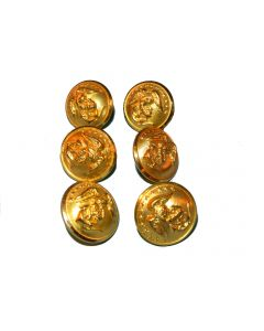 Set Of 6 Dress Blues Uniform 5/8in. Buttons