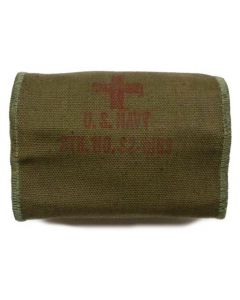 GI US NAVY WWII Aviators Individual First Aid Kit Pouch