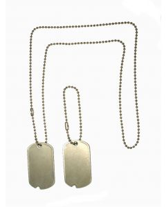 BLANK WW2 / KOREA / DOG TAG SET