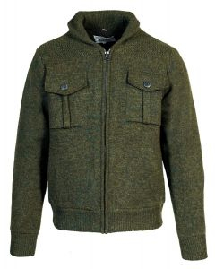Sherpa Lined Military Sweater Jacket