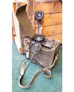 GI WWII Field Phone with Canvas Case