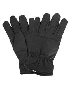 Fleece Lined Leather Police Gloves