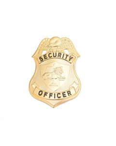 Security Officer Gold Hat Badge