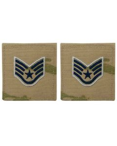 GI Space Force Embroidered Rank: Staff Sergeant OCP With Hook and Loop