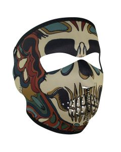 Psychedelic Skull Face Mask