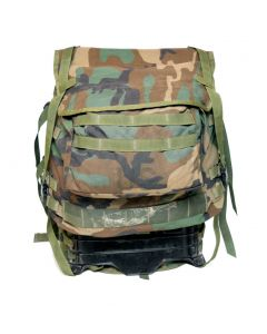 Used GI MOLLE II Rifleman Backpack Woodland Main Pack and Frame