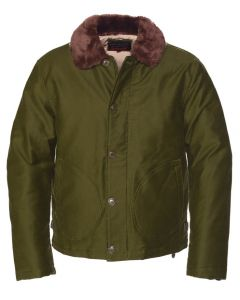 Schott Men's Cotton N-1 Deck Jacket Olive