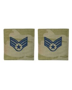GI Space Force Embroidered Rank: Senior Airman OCP With Hook and Loop